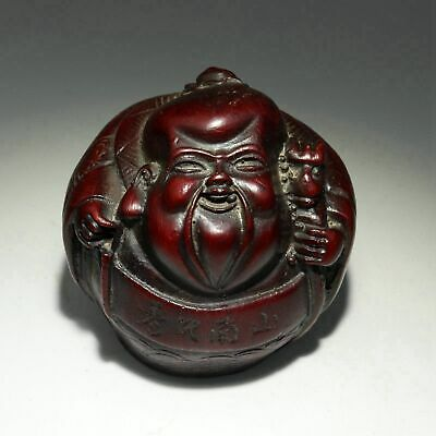 Collectable Chinese Old Resin Hand-Carved Auspicious Bring Luck Immortal Statue
