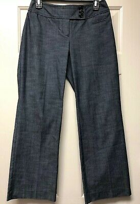 Ann Taylor Loft Julie Wide Leg Blue Work Dress Pants Trousers Size 2 Petite New