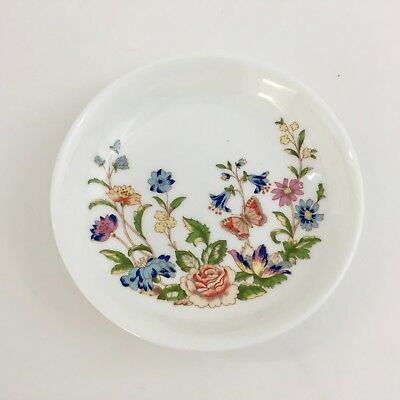 AYNSLEY English Cottage Garden Bone China Butter Trinket Dish Made in England