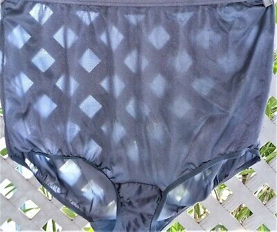 Vanity Fair Steel Blue Nylon Classic Granny Panty Brief 9/2X
