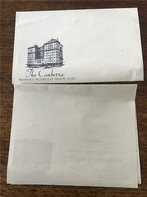 C 1940 The Canberra Hotel Queensland Prohibition League letterhead envelope