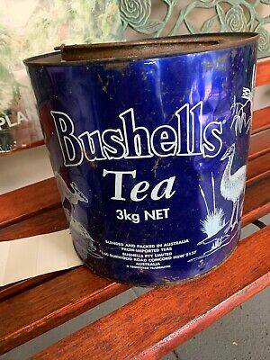 Vintage Australian Bushells 3kg Tea Tin Kitchenalia