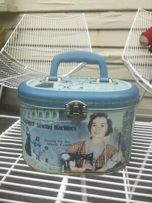 Retro Singer Sewing Machine Tin With Handle