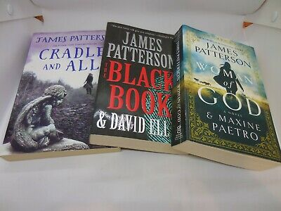 3: CRADLE AND ALL, THE BLACK BOOK & WOMAN OF GOD James Patterson 1ST ED TRADE SZ