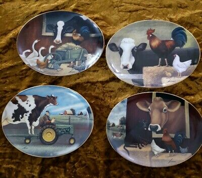 Set Of 4 Franklyn Mint Collectors Plates, Limited Edition.