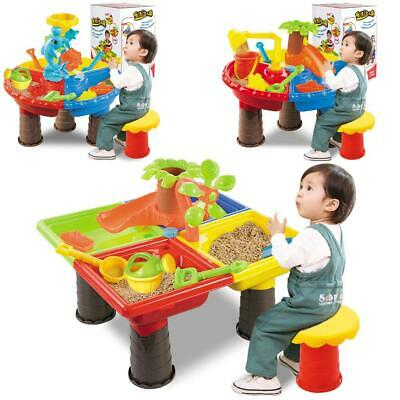 Kids Outdoor  Sand and Water Table Play Set Toys Beach Sandpit Summer Gift UK