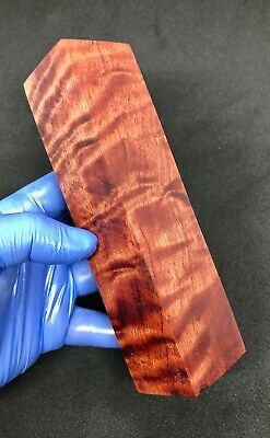 #23 Stabilised River Red Gum Block Knife Handle Blank Scale Maker Material