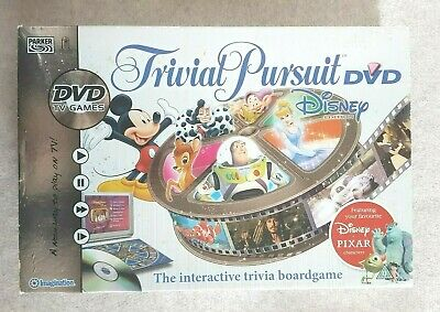 Trivial Pursuit Disney Pixar DVD Edition Interactive Family Board Game.