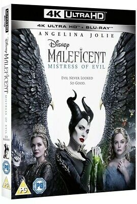MALEFICENT MISTRESS OF EVIL 4K ULTRA HD + BLU RAY 4K Watched Once BLU RAY Unseen