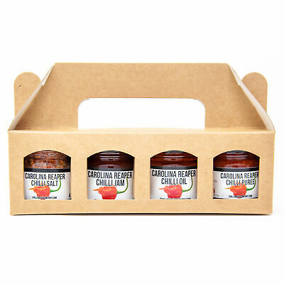Carolina Reaper Chilli Gift Set - 4* World's Hottest Chilli Products - Chilli Oi