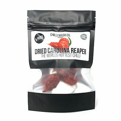 Dried Carolina Reaper Chilli | Chilli Mash Company | 5 Whole Pods