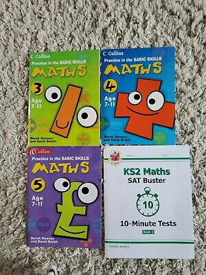 KS2 Maths Sat Buster Practice Books Ages 7-11 Yrs Set Of 4 New and Used