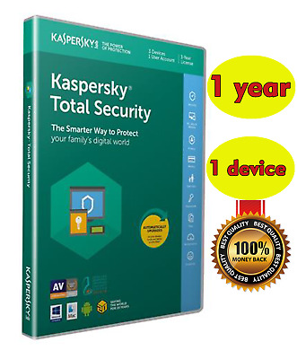 KASPERSKY TOTAL Security 2020 / 1Device / 1 Year / GLOBAL-KEY /Download