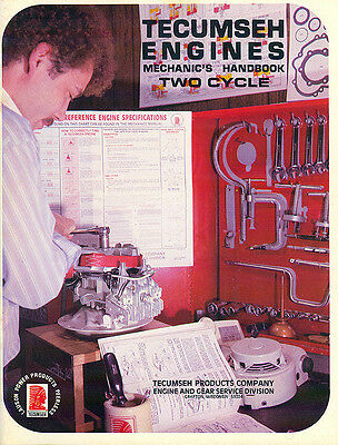 Tecumseh Two Cycle Engines Form No. 692508 Repair Manual Book 1985