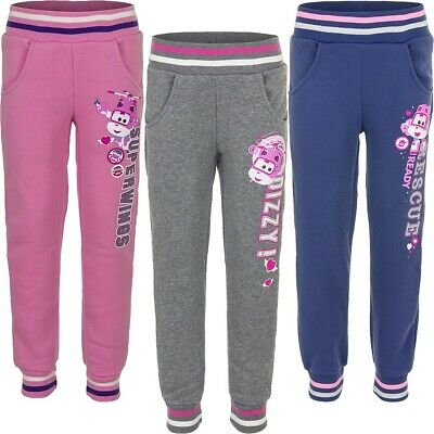 Girl Sports Pants Joggers Super Wings Pink Grey Blue 98 104 110 116 #311