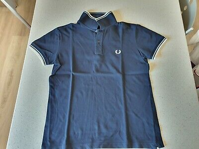 Fred Perry Polo Uomo Tg.40 colore blu. Made In Italy
