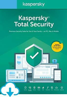 Kaspersky Total Security 5 Devices PC Users 2 Years for windows only