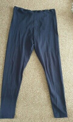 Blue Maternity Leggings Size 10 super comfy