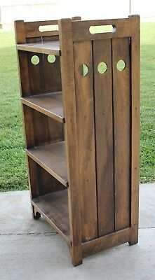 Vintage Mission Early California Monterey Wood Bookcase Library Display c1930s