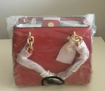 Brand-new Women's Michael Kors Red Cynthia Small Saffiano Leather Satchel