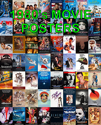 80s Film Posters Classic 1980s Movie Posters 80s Film Classics Large A1 Or A2