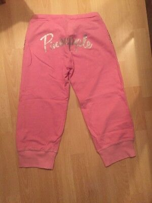 Debenhams Pineapple Age 14 Years Cropped Jogging Bottoms Trousers Workout Pink