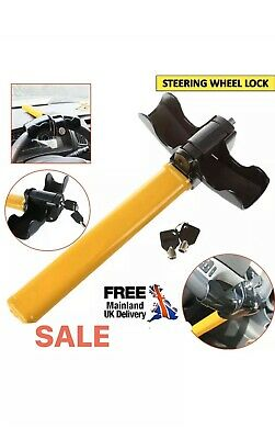 New T-Rotary Steering Lock Anti Theft Car Crook Wheel Yellow Auto Van Security U