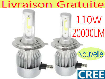 110W 20000LM H4 9003 CREE LED Ampoule Voiture Feux Phare Lampe Kit 6500K Blanc