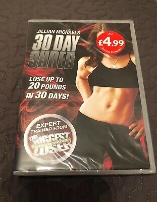 Jillian Michaels 30 day shred DVD - Lise Up To 20 Pounds In 30 Days - New