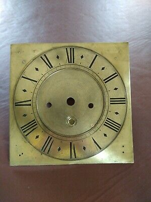 Antique Grandfather Longcase Brass Clock Face Dial. 10inch