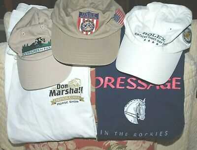 Equestrian, horse show collectible hats, tee shirts