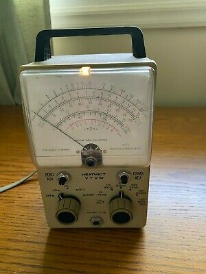 VINTAGE HEATHKIT VTVM VACUUM TUBE VOLTMETER Model IM-18 Works