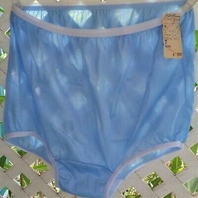 Vintage Elder~Berman Usa Sky Blue  Nylon Panty Brief 5/S