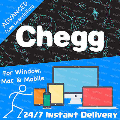 🔵 Chegg 30-Day ADVANCED Private Subscription Account—Chegg Study Pack