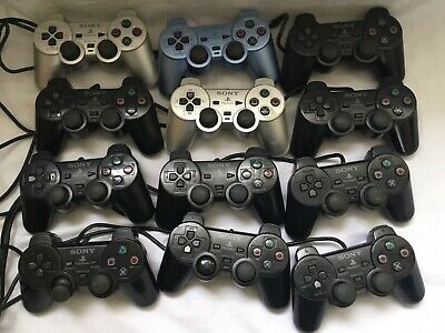 Joblot Official Sony Playstation 2 Ps2 Dual Shock Controllers Spares Repair Fix