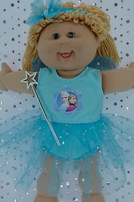 "Play n Wear Dolls Clothes For 16"" Cabbage Patch AQUA FAIRY~PANTS~HEADBAND~WAND"