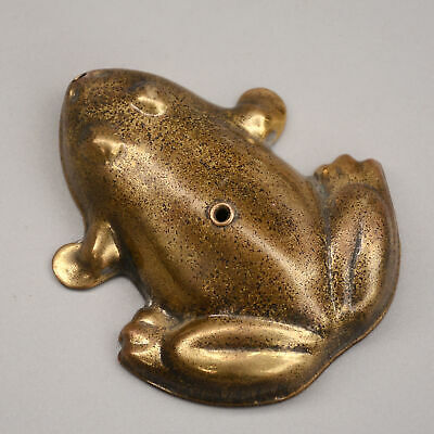 Collectable China Old Bronze Hand Carve Frog Delicate Delicate Noble Drip Kettle