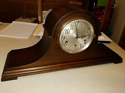 Antique Seth Thomas Mantle Shelf Clock Tambour Original