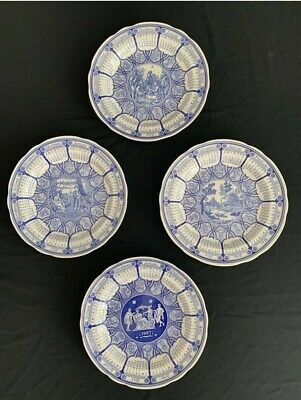 """SPODE BLUE ROOM COLLECTION 10"""" Calender plates Vintage, 97,98,99 and 2000"""
