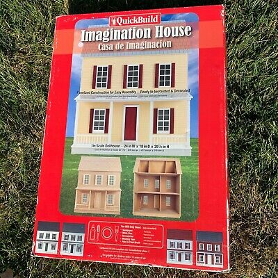 QuickBuild Imagination House Dollhouse Kit 67100 1 Inch Scale NEW SEALED Project