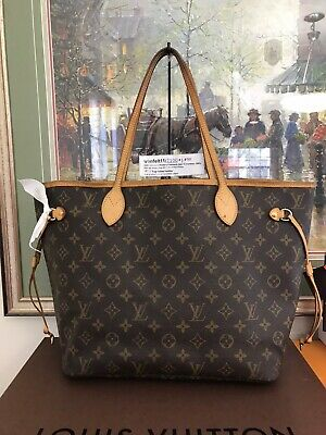 ❤ Louis Vuitton Neverfull MM ❤ Monogram Shoulder Tote Auth LV