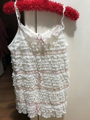 Stunning Rare Lace Vintage Lingerie Approx M Pinup Babydoll Retro