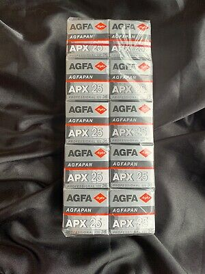 Agfa Agfapan APX 25 - 135 35mm film sealed stored in cool expired 7/2005