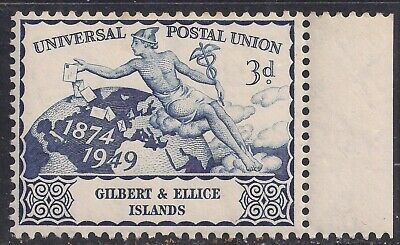 Gilbert & Ellice Islands 1949 KGV1 3d Blue UPU Umm SG 61 ( K1251 )