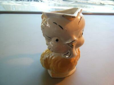 Vintage OWL CHICK Creamer Pitcher MID CENTURY Possible SHAWNEE Pottery