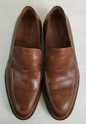 Damiano Chiappini Mens Brown Slip On Loafer Size Euro 43 US 9 Made in Italy