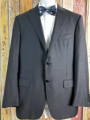Current Canali 1934 Men's Wool Gray Sport Coat Blazer 42 Long