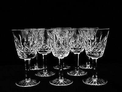 """8 Waterford Crystal """"Lismore"""" 5 Oz. Claret Wine Glasses ~ Made In Ireland"""