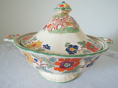 Mason's Ironstone **Green Bible** Pattern C2639 Lidded Tureen - 1920's