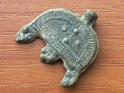Ancient Byzantine Medieval Lead Buckle with Cross Circa 600-900 AD Very Rare